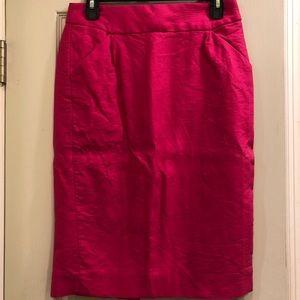 JCREW Hot Pink Long Pencil Skirt